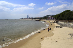 West amoy island beach. Beach of the west sea of amoy city, china Royalty Free Stock Photos
