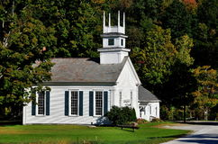 West Arlington, VT: Methodist Church on the Green Royalty Free Stock Images