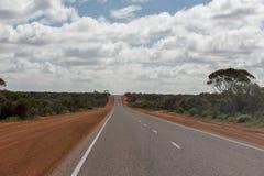 West Australia Desert endless road Stock Images