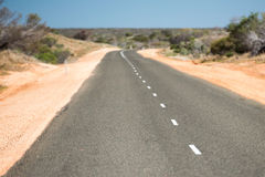 West Australia Desert endless road Stock Photography