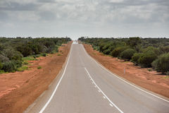 West Australia Desert endless road Royalty Free Stock Images
