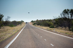 West Australia Desert endless road Stock Photos