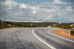 West Australia Desert endless road Royalty Free Stock Photos
