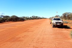 West Australian outback off road track Royalty Free Stock Image