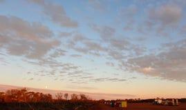 West Australian outback pipeline construction sunrise Stock Photography