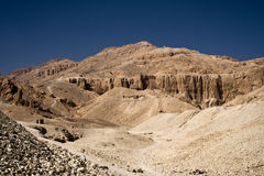 West bank. Hills of the west bank in Egypt Stock Photography