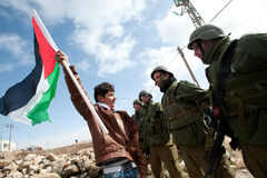 West Bank Anti-Wall Demonstration Stock Photography