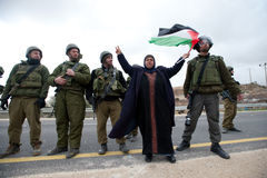West Bank Anti-Wall Demonstration Royalty Free Stock Photo