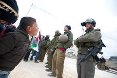 West Bank Anti-Wall Demonstration Royalty Free Stock Photos