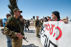 West Bank Protest Royalty Free Stock Images