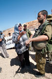West Bank Protest Royalty Free Stock Photography