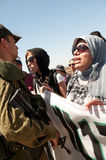 West Bank Protest Stock Image