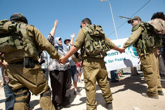West Bank Protest Stock Photos