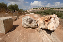 West Bank Road Block Stock Photography