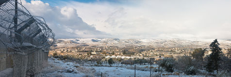 The west bank in winter Stock Photography