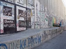 West- Banksperre des Israelis stockfotos