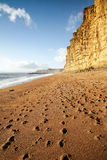 West Bay. View of East Beach at West Bay, west Dorset, England Stock Photography