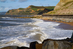 West Bay beach Dorset Royalty Free Stock Photography