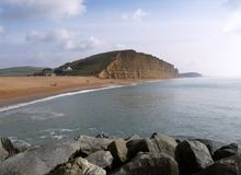 West Bay Beach Dorset royalty free stock images