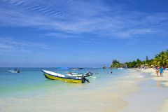 West Bay beach in Honduras Stock Photography