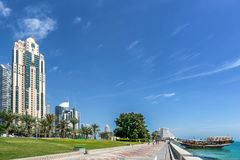 West Bay on the Corniche Stock Image