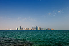 The West Bay City skyline of Doha, Qatar Royalty Free Stock Photography
