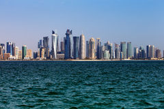 The West Bay City skyline of Doha, Qatar Royalty Free Stock Photos