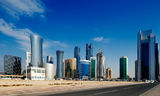 The West Bay district of Doha, Qatar Stock Photos
