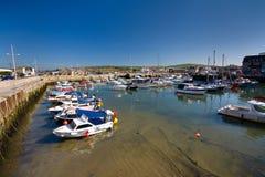 West Bay, Dorset, UK. West Bay near Bridport in Dorset, UK royalty free stock photography
