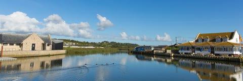 West Bay Dorset uk River Brit panoramic view Royalty Free Stock Image