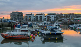 West Bay harbour Stock Image