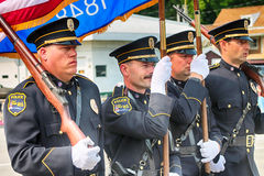 West Bend, WI Police. From the 4th of July parade Stock Image