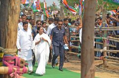 West Bengal Chief Minister Mamata Banerjee`s Election Rally at Burdwan stock image