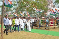 West Bengal Chief Minister Mamata Banerjee`s Election Rally at Burdwan royalty free stock photography