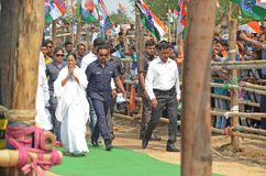 West Bengal Chief Minister Mamata Banerjee`s Election Rally at Burdwan royalty free stock images