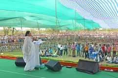 West Bengal Chief Minister Mamata Banerjee`s Election Rally at Burdwan stock photography