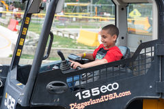 WEST BERLIN, NJ - MAY 28: Diggerland USA, the only construction. Themed adventure park in North America where children and families can operate actual machinery royalty free stock image