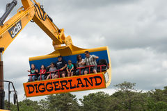 WEST BERLIN, NJ - MAY 28: Diggerland USA, the only construction. Themed adventure park in North America where children and families can operate actual machinery stock photo