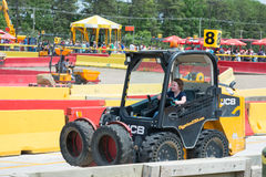 WEST BERLIN, NJ - MAY 28: Diggerland USA, the only construction. Themed adventure park in North America where children and families can operate actual machinery stock image