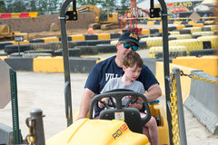 WEST BERLIN, NJ - MAY 28: Diggerland USA, the only construction royalty free stock image