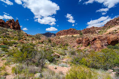 West Boulder Trail is in the Superstitioin Mountain Wilderness east of Phoenix. Stock Image