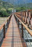 West Bridge in Olaya and Santa Fe de Antioquia, Colombia. Royalty Free Stock Image