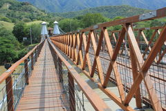West Bridge in Olaya and Santa Fe de Antioquia, Colombia. Royalty Free Stock Photos