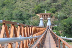 West Bridge in Olaya and Santa Fe de Antioquia, Colombia. Royalty Free Stock Photography