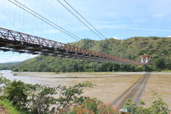 West Bridge in Olaya and Santa Fe de Antioquia, Colombia. Stock Photo