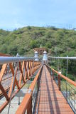 West Bridge in Olaya and Santa Fe de Antioquia, Colombia. Stock Photography