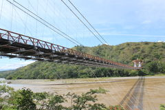West Bridge in Olaya and Santa Fe de Antioquia, Colombia. Stock Images