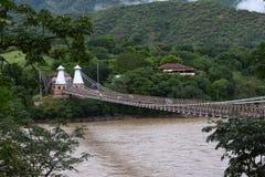 West bridge - Puente de Occidente Santafe de Antioquia Royalty Free Stock Photography