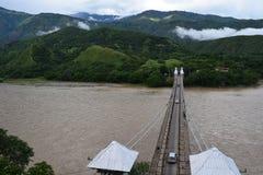 West bridge - Puente de Occidente Santafe de Antioquia Royalty Free Stock Photos