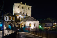 West Bridge Tower, Mostar Stock Photo